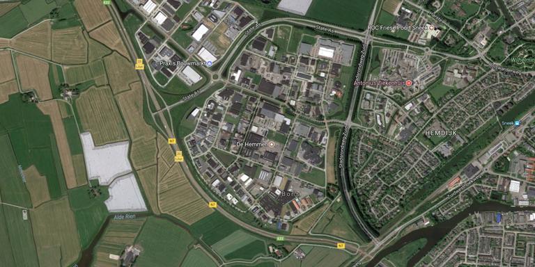 Het Sneker bedrijventerrein De Hemmen. FOTO GOOGLE STREETVIEW