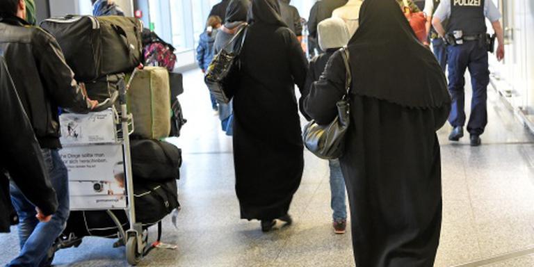 Syrische vluchtelingen geland in Hannover