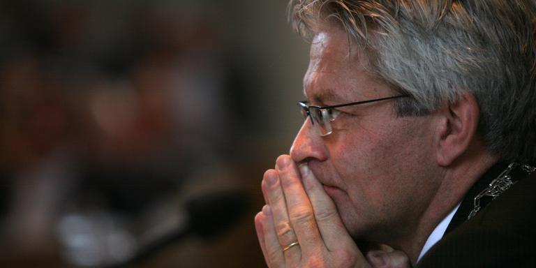 Burgemeester Ferd Crone van Leeuwarden. FOTO LC/NIELS WESTRA