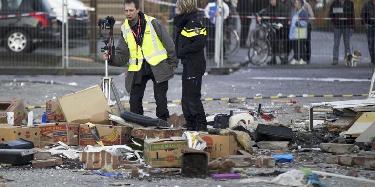 Puin explosie bemoeilijkt politieonderzoek