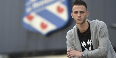 Branco van den Boomen, vanavond in de uitwedstrijd tegen PEC Zwolle terug in de basis van SC Heerenveen. FOTO FPH/MUSTAFA GUMUSSU