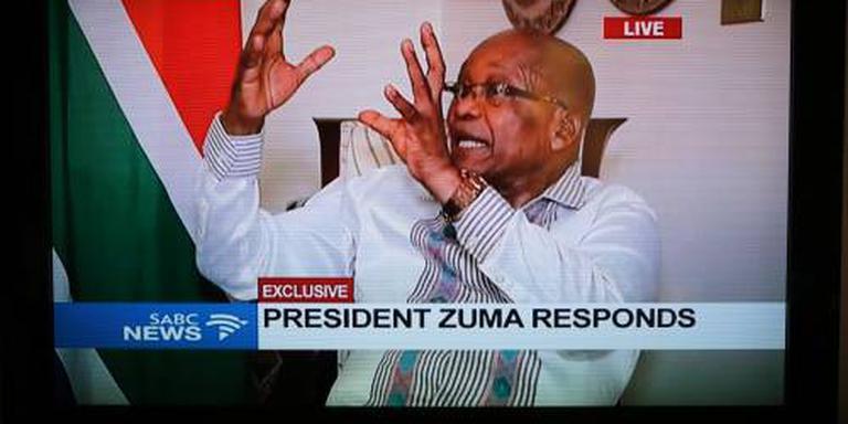 President Zuma vindt het niet eerlijk
