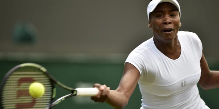 Regen treft Venus Williams op matchpoint