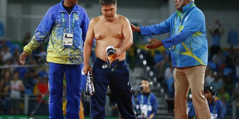 Mongolische striptease kost brons