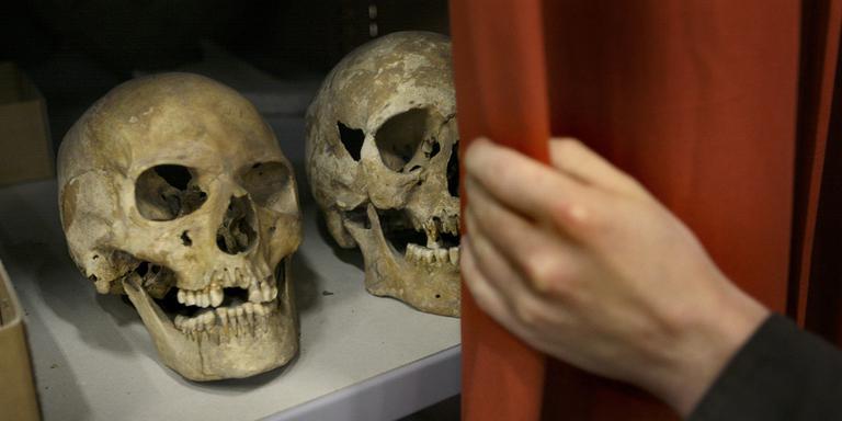 Twee schedels op bouwplek Van der Valk