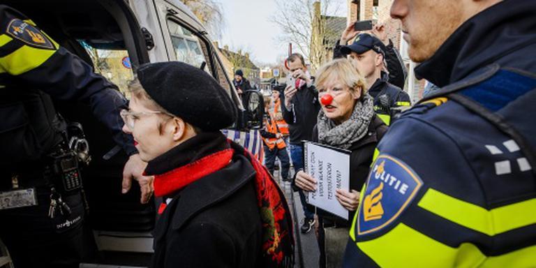 Vrouwen aangehouden bij actie Wilders
