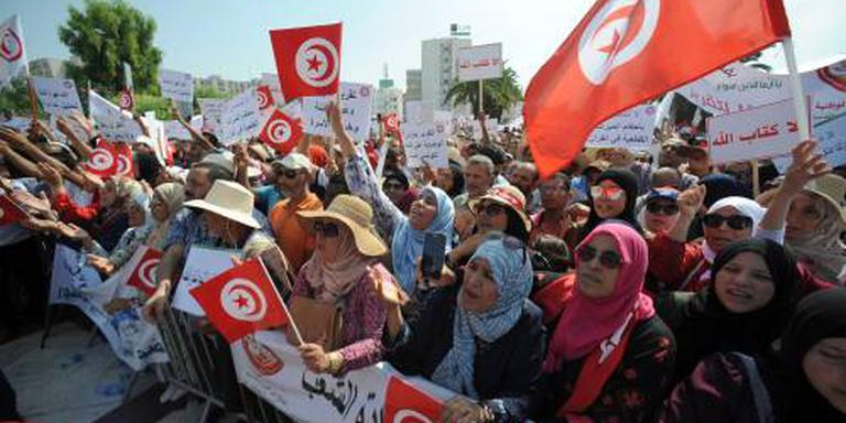 Protest tegen meer vrouwenrechten Tunesië