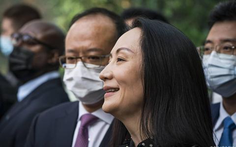 Topvrouw Huawei mag Canada verlaten van rechter