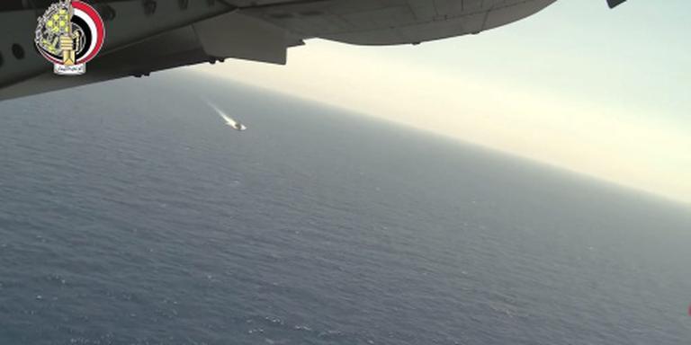 Mogelijk oliespoor van Egyptische Airbus