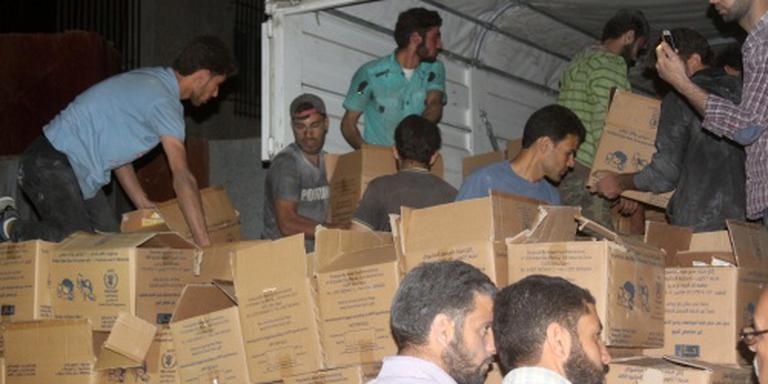 Hulpkonvooi bereikt Talbiseh bij Homs
