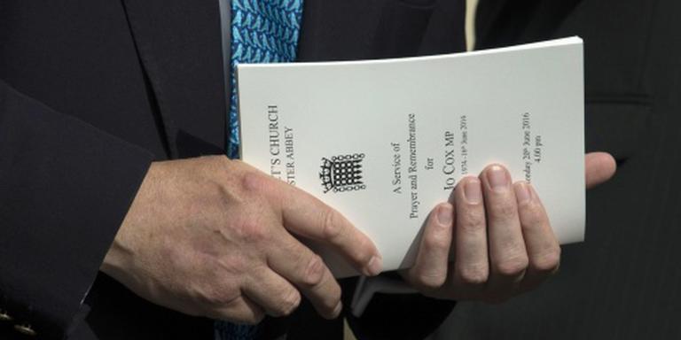 Woede om brexitreclame boven herdenking Cox