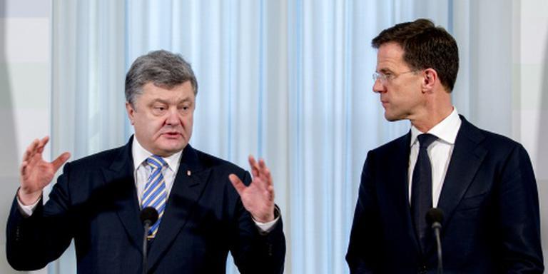 Rutte bespreekt onderzoek MH17 met Porosjenko