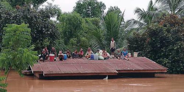 Dodental dambreuk Laos omhoog