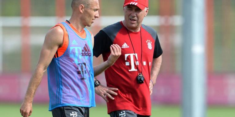 Ancelotti houdt hoop voor Robben