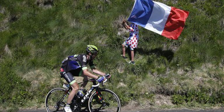 Renners in Tour op weg naar Montauban