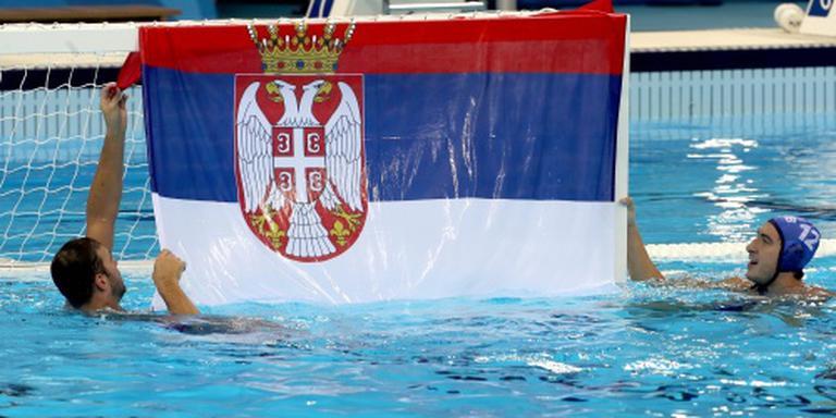 Servische mannen pakken goud bij waterpolo