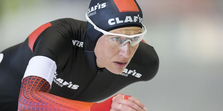 Carien Kleibeuker heeft vandaag het baanrecord op de 10 kilometer verbeterd.