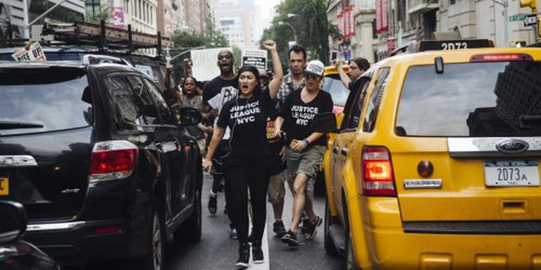 Amerikanen demonstreren tegen politiegeweld
