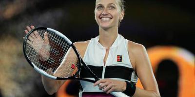 Kvitova bij laatste vier in Melbourne
