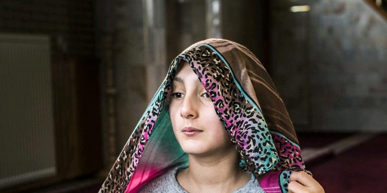 De Turkse Yildirim Beyazit-moskee in Emmen figureert in de reportage over de islam in het Noorden. FOTO KEES VAN DE VEEN