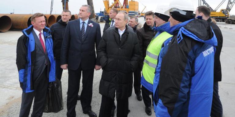 Poetin op Krim voor viering annexatie