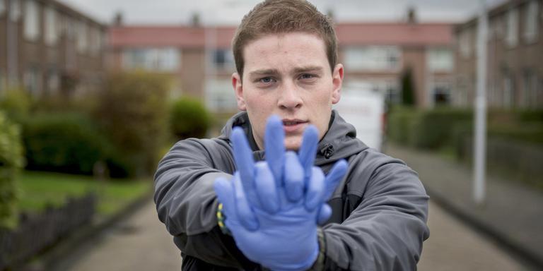 De 19-jarige Marc Stijger voerde al zestien reanimaties uit. FOTO JILMER POSTMA