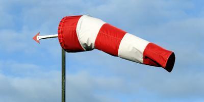 Zwaarste windstoot 113 kilometer per uur
