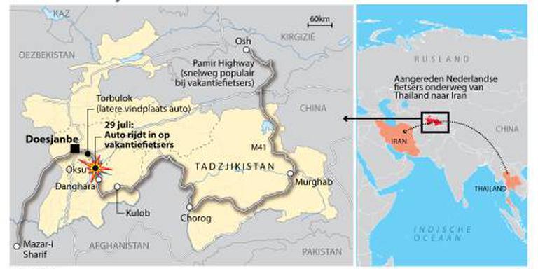 Gewonde vrouw Tadzjikistan uit ziekenhuis