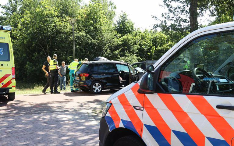 Zwangere vrouw gewond bij botsing in Boornbergum.