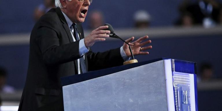 Aanhangers Sanders lopen boos weg