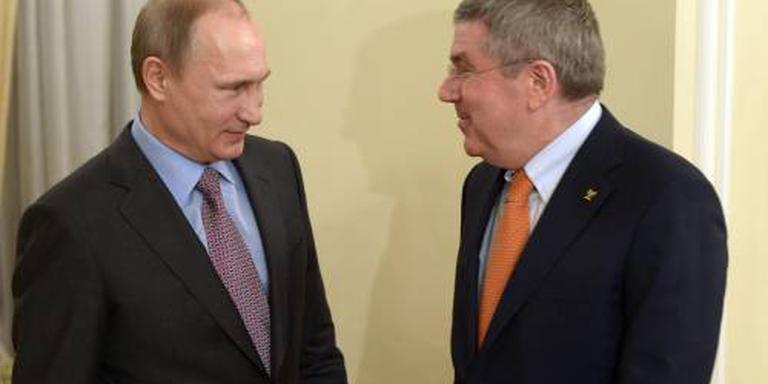 Poetin ontmoet IOC-voorzitter bij finale