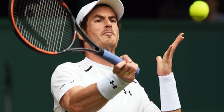 Murray opnieuw naar kwartfinale Wimbledon