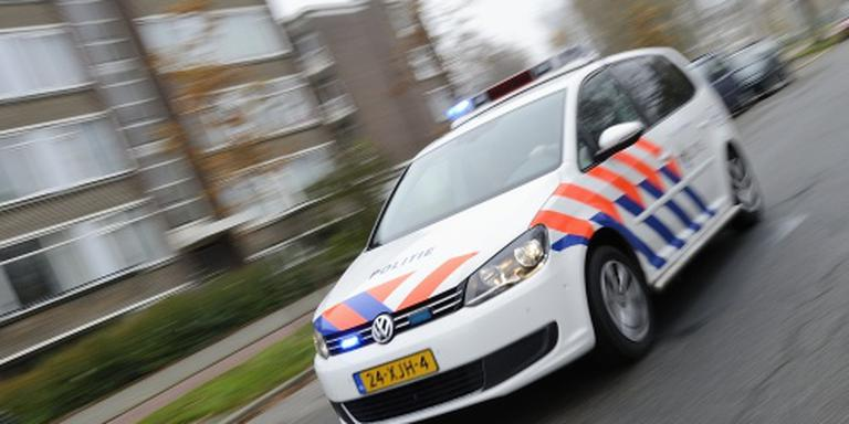 Politie-auto total loss na aanrijding