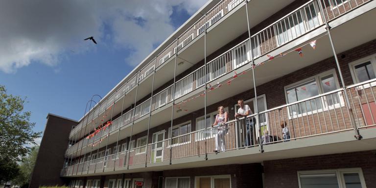 Flats in Leeuwarden, die eigendom zijn van Elkien. FOTO LC/JAN DE VRIES