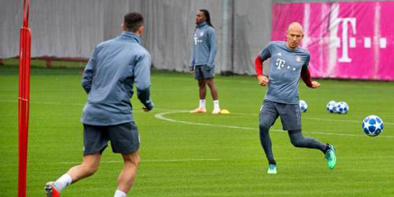 Bayern beslist na training over Robben