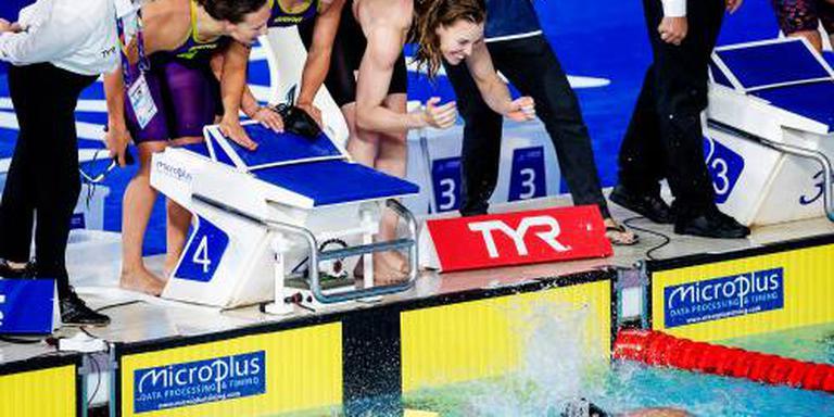 Estafettezwemsters zesde in finale 4x200 vrij