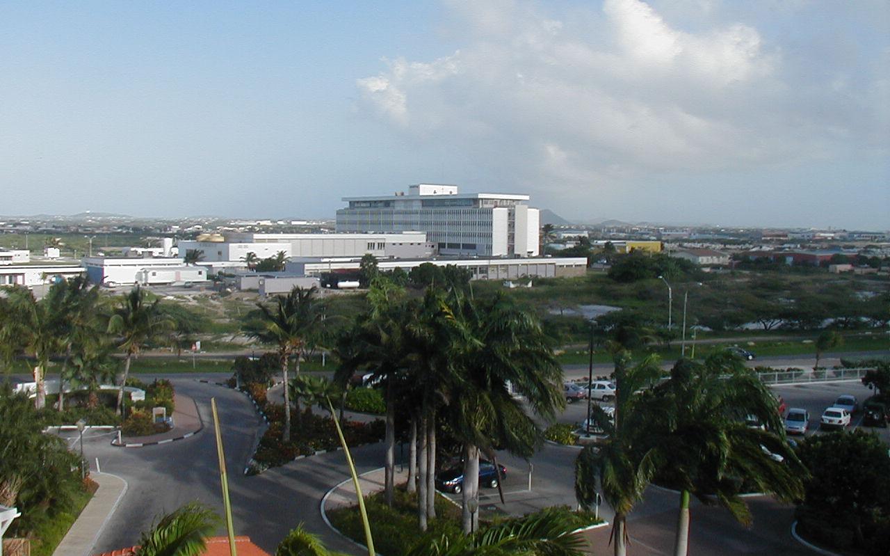 Archiefbeeld van het ziekenhuis op Aruba.
