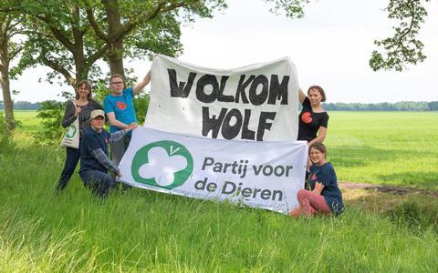 Demonstratie tegen wolvenhek.