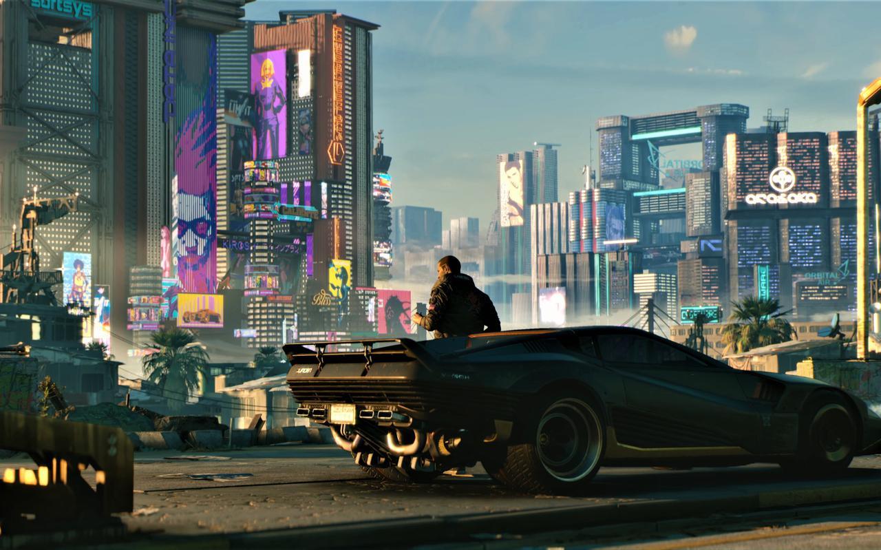 Beeld uit de game Cyberpunk 2077