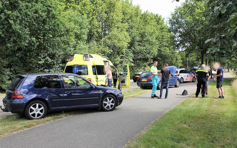Ongeval met drie voertuigen in Gorredijk.