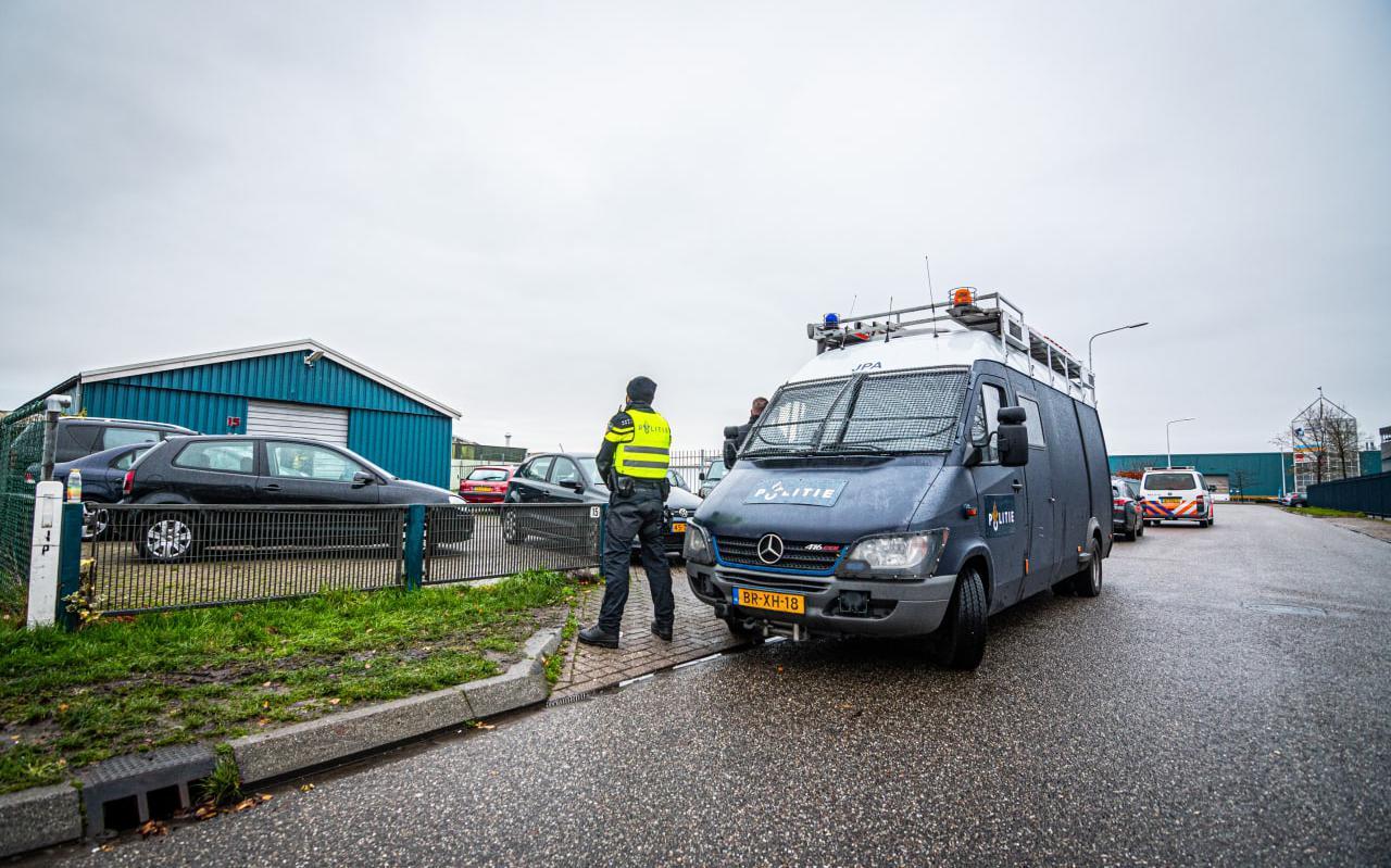 De politie-inval op 1 december 2020.