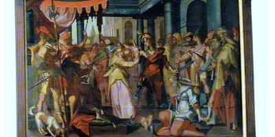 Het schilderij het Salomons oordeel. FOTO STICHTING BOLSWARDS HISTORIE
