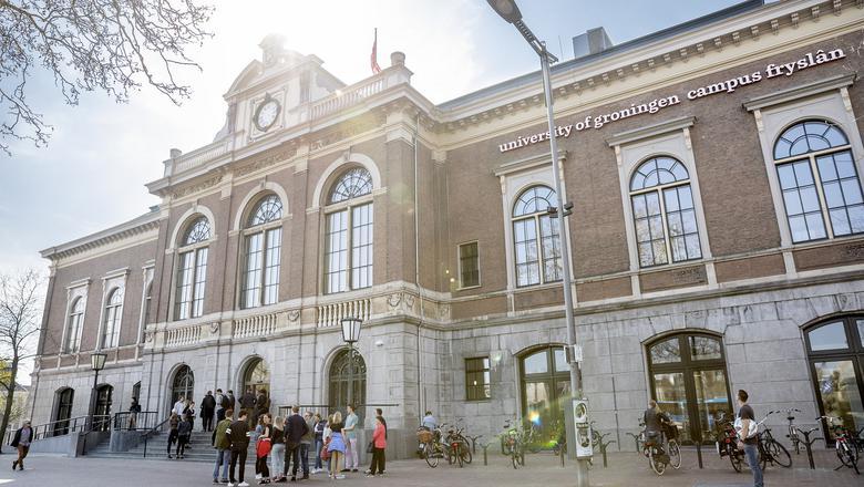 Het beursgebouw in Leeuwarden. FOTO IMAZZO