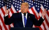 President Donald Trump is tegen de late telling van schriftelijke stemmen: 'We willen niet om vier uur 's nachts een stembiljet vinden en die op de lijst zetten'.