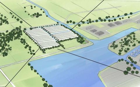Schets van het toekomstige zonnepark.