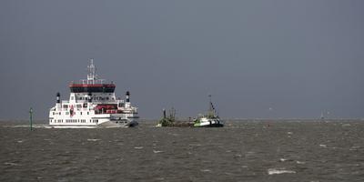 De veerboot naar Ameland. FOTO LC/ARCHIEF