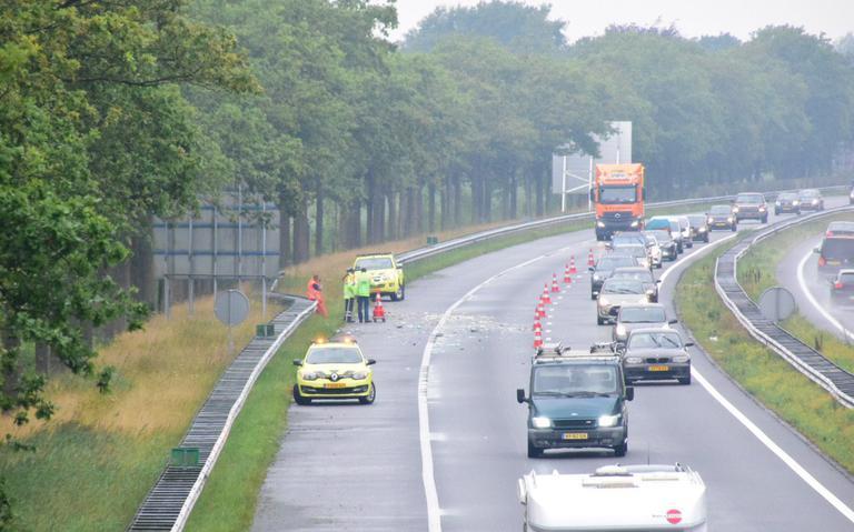 Ongeval met vrachtwagen op A7 bij Drachten.