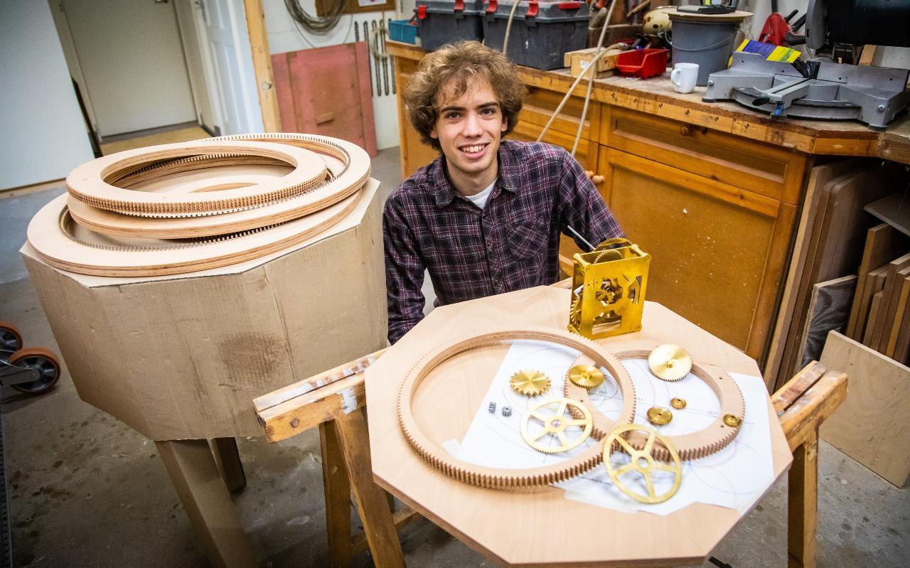Daan Vermaat denkt dat zijn planetarium over vijf jaar is voltooid.