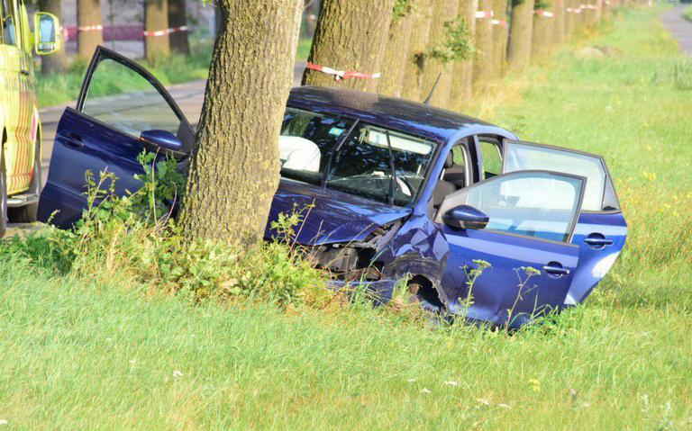 Eenzijdig ongeval op de Beetsterweg in Beetsterzwaag.