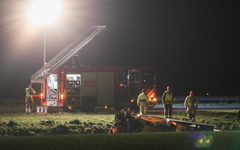 File op de A7 tussen Drachten en Groningen door ongeval.